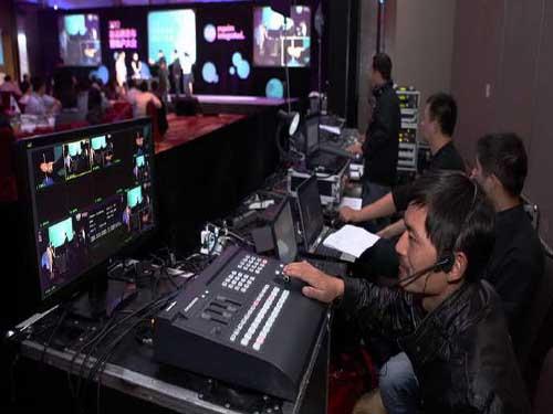 会议年会晚会拍摄录制